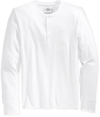 American Rag Men's Henley, Created for Macy's $30 thestylecure.com