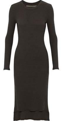 Enza Costa Ribbed Stretch-Jersey Dress