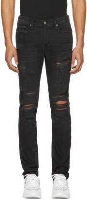 Frame Black LHomme Released Hem Skinny Jeans