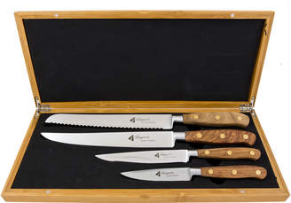 Laguiole By Louis Thiers 4 Piece Rose Wood Knife Set