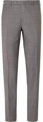 Canali Grey Slim-Fit Super 130s Wool Suit Trousers