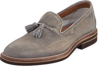 Brunello Cucinelli Tasseled Suede Loafer