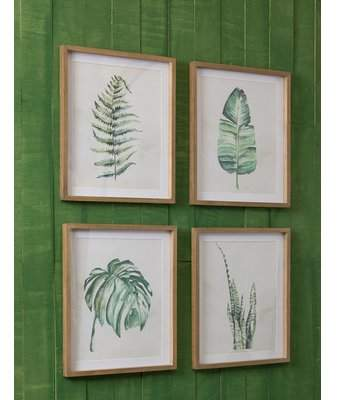Wayfair Leaf 4-Piece Framed Print Set