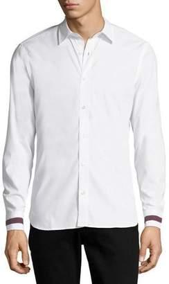 Burberry Men's Reynoldton Stripe-Cuff Sport Shirt