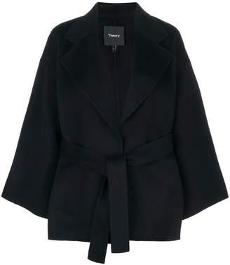 Theory oversized belted jacket