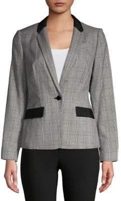 Calvin Klein Petite Glen Plaid Jacket