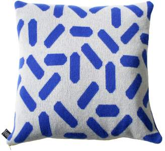 TiCTAC Giannina Capitani - Tic-Tac Cushion Large - Grey & Blue/Yellow Zip