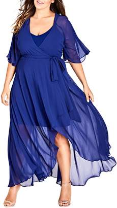 City Chic Enthrall Me High/Low Dress