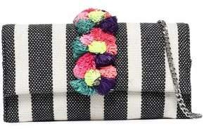 Loeffler Randall Embellished Striped Jacquard Shoulder Bag