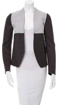 Narciso Rodriguez Wool Colorblock Open Front Jacket w/ Tags