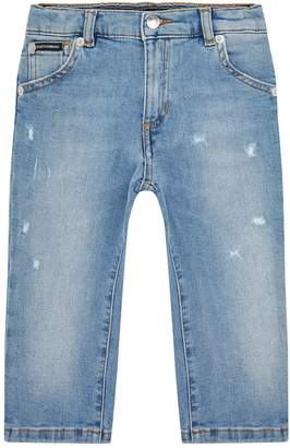 Dolce & Gabbana Regular-Fit Logo Printed Jeans
