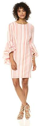 Maggy London Women's Cotton Stripe Novelty Dress