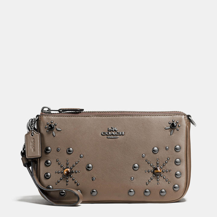 Coach   COACH Coach Western Rivets Nolita Wristlet 19 In Glovetanned Leather