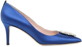 Sarah Jessica Parker 70mm Tempest Embellished Satin Pumps