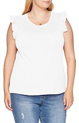 Simply Be Women's Sleeveless Ruffle T T-Shirt