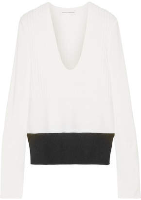 Narciso Rodriguez Ribbed Wool And Cashmere-blend Sweater