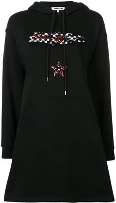 McQ racing babydoll hoodie dress
