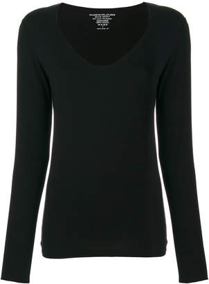 Majestic Filatures scoop neck knitted top