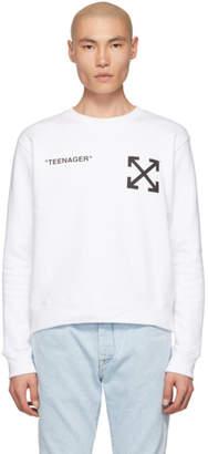 Off-White Off White White Flamed Bart Sweatshirt