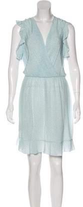 L'Agence Printed Sleeveless Knee-Length Dress