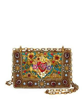 Dolce & Gabbana Girls Embellished Jacquard Shoulder Bag