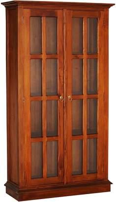 Kayu Estate Bookcases Pena Pecan Display Cabinet