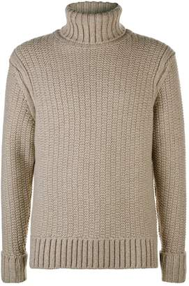 Gieves & Hawkes Chunky Knit Turtleneck Sweater