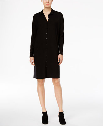 Eileen Fisher Knit Shirtdress, A Macy's Exclusive $188 thestylecure.com