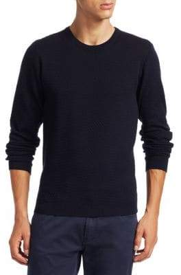 Giorgio Armani Herringbone-Knit Sweater