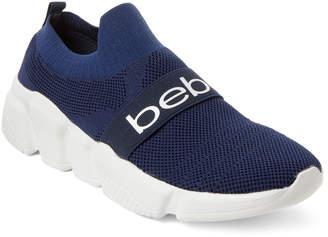 Bebe Navy Aindrea Knit Slip-On Sneakers