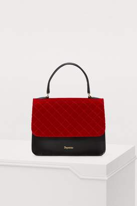 Repetto Double Jeu PM leather and quilted velvet handbag