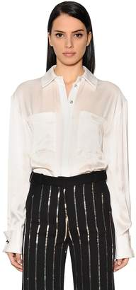 Thierry Mugler Fluid Silk Satin Shirt