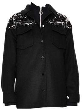 Sandro Notting Hill Versaille Sequin& Beaded Jacket