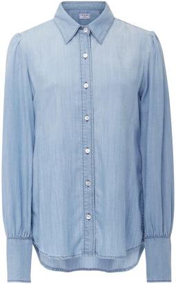 Frame Denim Denim Button Down Shirt $245 thestylecure.com