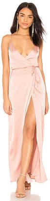 Krisa Wrap Maxi Dress