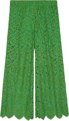Gucci Flower lace ankle trousers