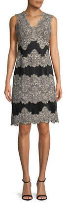 Tahari Sleeveless Lace Sheath Dress
