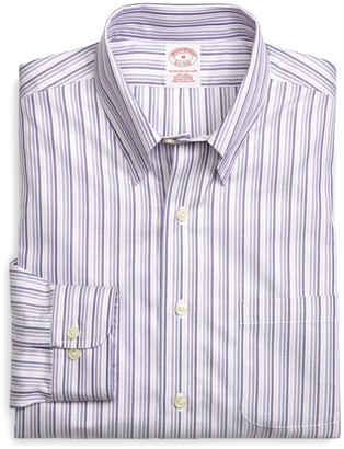 Brooks Brothers Supima Cotton Non-Iron Regular Fit Tonal Stripe Twill Sport Shirt