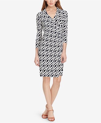 American Living Geo-Print Jersey Dress $79 thestylecure.com