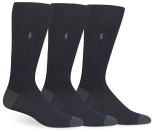 Polo Ralph Lauren Soft Touch Rib Knit Trouser Socks - Pack of 3