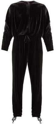 Preen Line Ruby Stretch Velvet Jumpsuit - Womens - Black