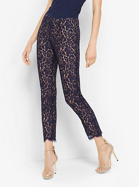 Michael Kors Floral Lace Cropped Pants
