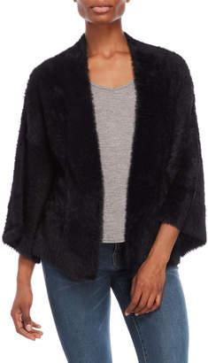 Catherine Malandrino Black Faux Fur Open Jacket