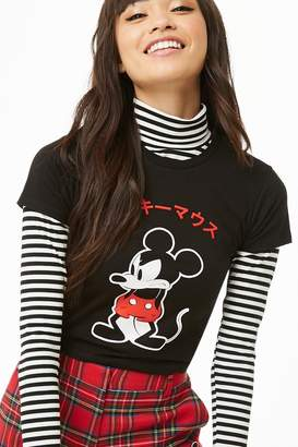 Forever 21 Mickey Mouse Graphic Crop Top