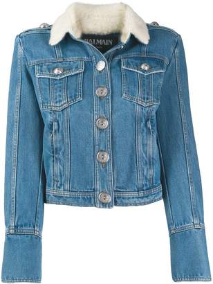Balmain cropped denim jacket