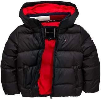 0ba88baa Tommy Hilfiger Boys Padded Down Hooded Jacket - Black