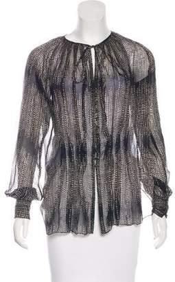 L'Agence Printed Silk Blouse
