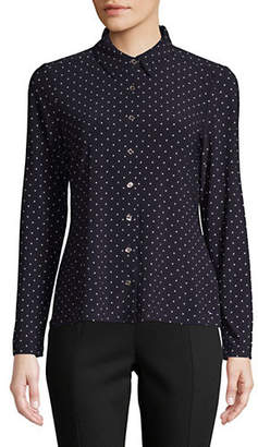 Tommy Hilfiger Printed Long-Sleeve Button-Down Shirt
