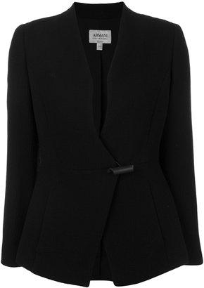 Armani Collezioni classic fitted blazer $763.48 thestylecure.com