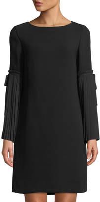 Tahari ASL Sylvia Pleated-Bell Sleeve Dress